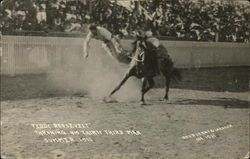 Teddy Roosevelt Throwing his Thirty Third Man, Summer, 1910