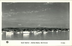 View of Quiet Harbor, Balboa Beach