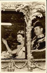 H.M. the Queen and the Duke of Edinburgh in the state coach