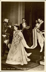 Coronation of Queen Elizabeth II - Queen Leaving the Palace