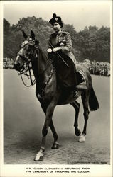 H.M. Queen Elizabeth II Returning From the Ceremony of Trooping the Colour