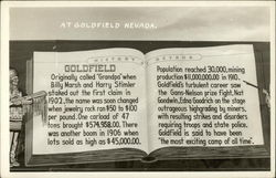 History of Goldfield Nevada Postcard