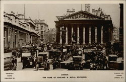 The Bank of England & Royal Exchange Postcard
