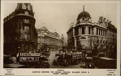 Aldwych Showing the Strand Theatre, Waldorf Hotel & Gaiety Theatre Postcard