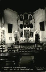 Interior of San Miguel Church, Oldest Church in U.S.A