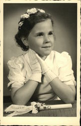 Portrait of Young Girl Wearing Gloves