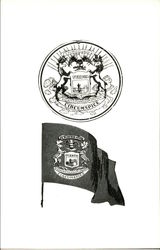 Michigan State Seal and Flag