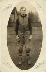 Man Dressed for Rugby or Football