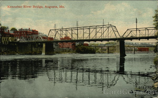 Kennebec River Bridge Augusta Maine