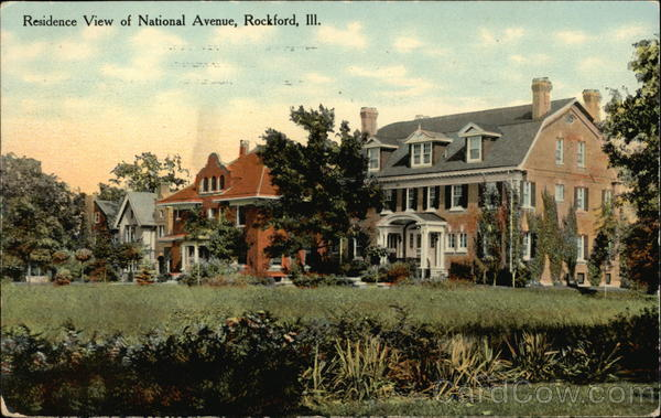 Residence View of National Avenue Rockford Illinois