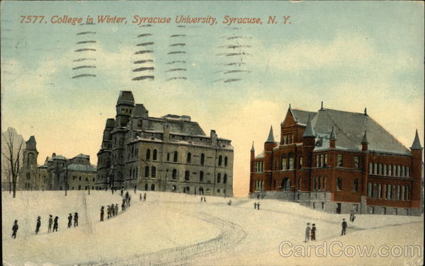 College in Winter at Syracuse University New York