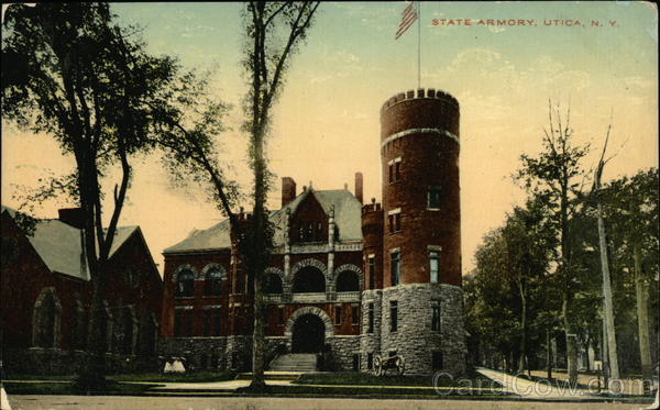 Street View of State Armory Utica New York