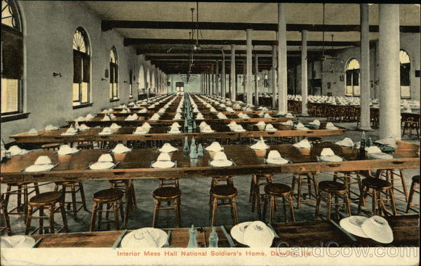 Interior Mess Hall, National Soldier's Home Danville Illinois