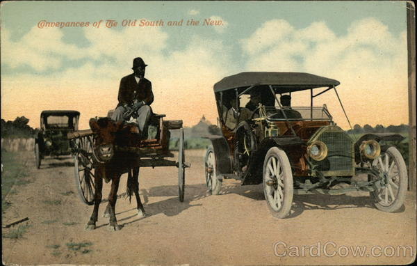 Conveyances of the Old South and the New Horse-Drawn