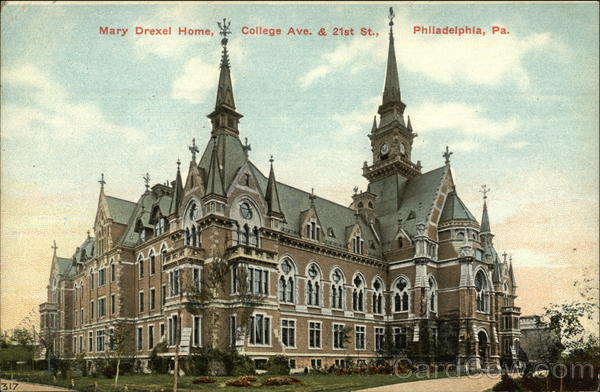 Mary Drexel Home, College Avenue & 21st Street Philadelphia Pennsylvania