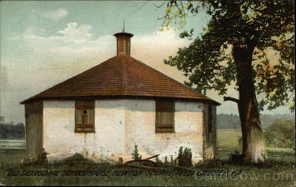 Old Octagonal Schoolhouse at Newton Square West Chester Pennsylvania