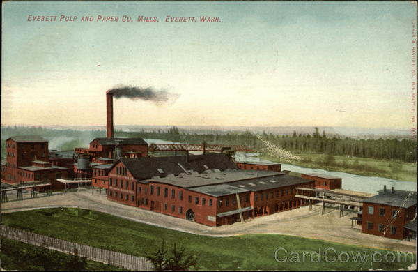 Everett Pulp and Paper Co. Mills Washington
