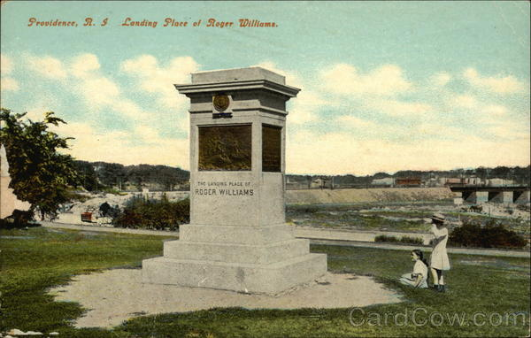 Landing Place of Roger Williams Providence Rhode Island