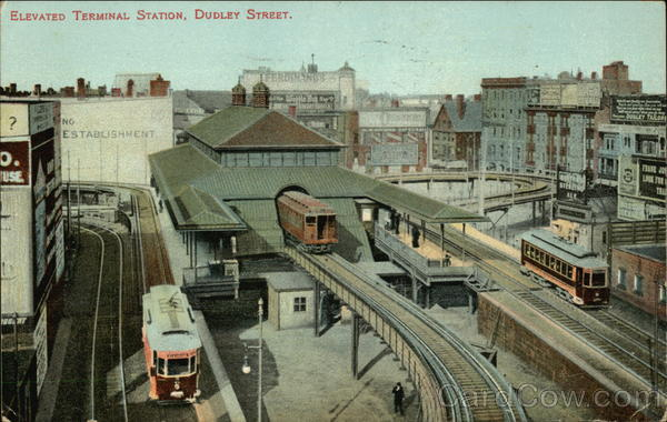 Elevated Terminal Station, Dudley Street Boston Massachusetts