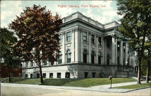 Public Library - Street View Fort Wayne Indiana
