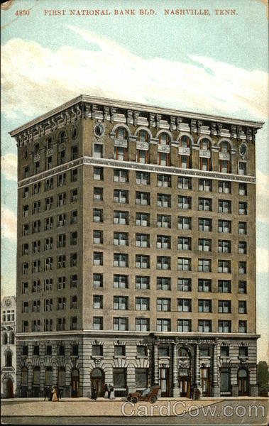 Street View of First National Bank Building Nashville Tennessee