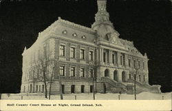 Hall County Court House at Night