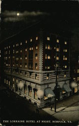 The Lorraine Hotel at Night