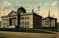 Public Library Showing Memorial Hall in Rear