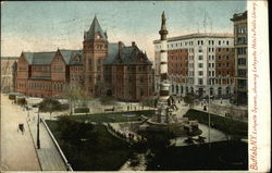Lafayette Square showing Lafayette Hotel & Public Library