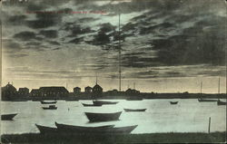 Blackman Island and Wirleless by Moonlight Postcard
