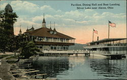 Pavilion, Dining Hall and Boat Landing at Silver Lake