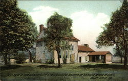 Rear view of Gen. Washington's Headquarters, showing log house where he dined