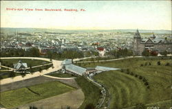 Bird's Eye View from Boulevard Postcard