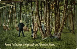 Among the Swings at Highland Park Postcard