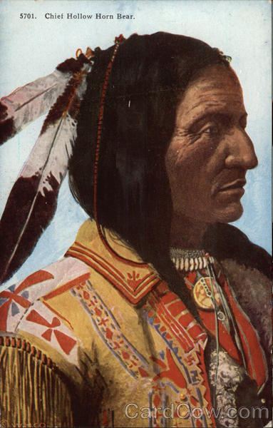 Color Profile of Chief Hollow Horn Bear Native Americana