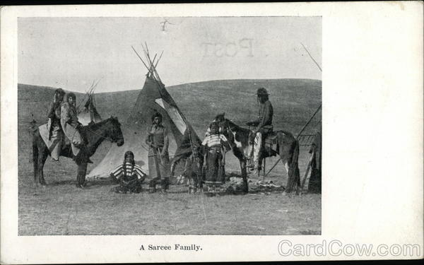 A Sarcee Family Native Americana