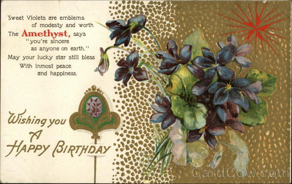 Wishing you a Happy Birthday - Amethyst