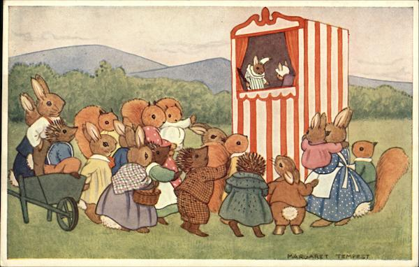 Punch and Judy Margaret Tempest Dressed Animals