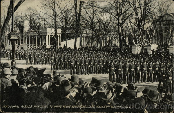 Inaugural Parade Marching to White House Reviewing Stand March 4th, Washington, D.C