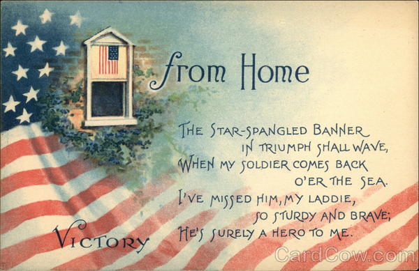 From Home, The Star-Spangled Banner in Triumph Shall Wave