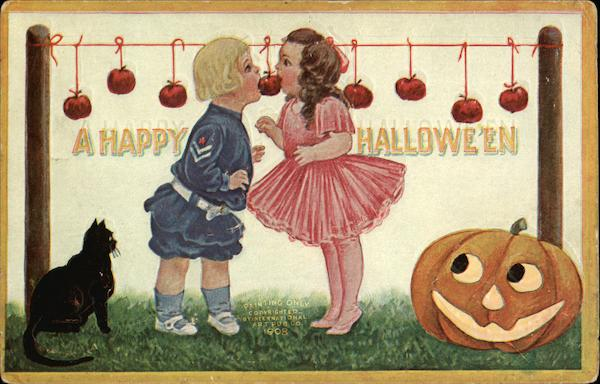 Happy Halloween - Children and Apples