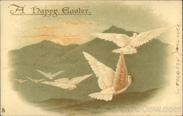 A Happy Easter - Doves