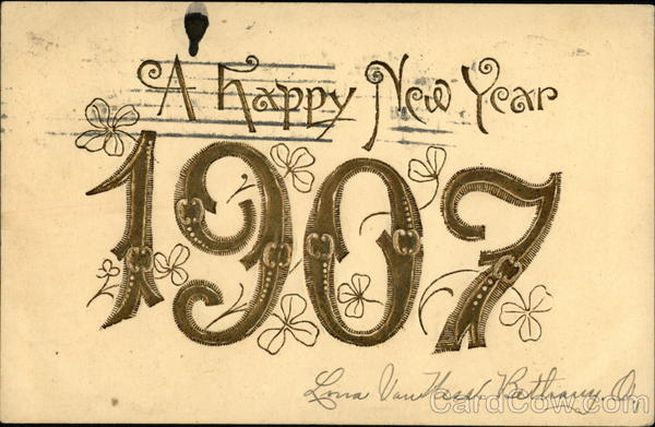 A Happy New Year, 1907 Year Dates
