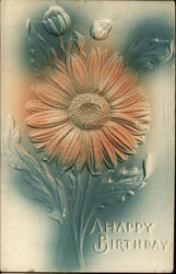 A Happy Birthday - Embossed Flower