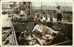 Loading Cotton into Ship's Hold