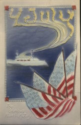 The Glorious Fourh of July, With Ship and Flags
