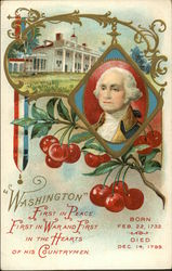 """Washington"" First in Peace, First in War and First in the Hearts of his Countrymen Postcard"