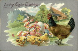 Loving Easter Greetings with Hen & Chicks