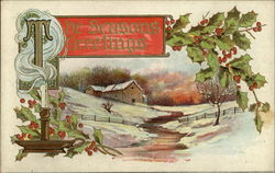 The Seasons Greetings- Cabin In The Snow and Mistletoe
