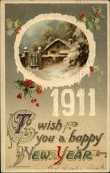 1911 To wish you a happy New Year